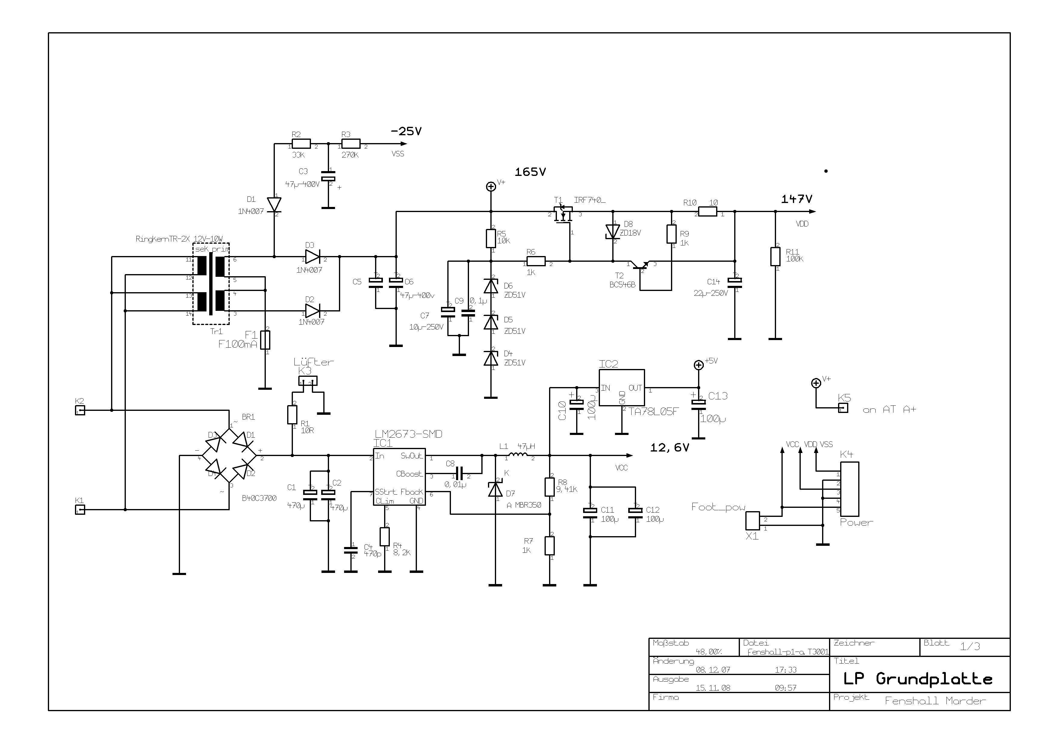 Stromlaufpläne Prototyp